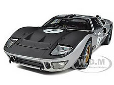 1966 FORD GT 40 MK II #7 SILVER 1/18 DIECAST MODEL CAR SHELBY COLLECTIBLES SC404