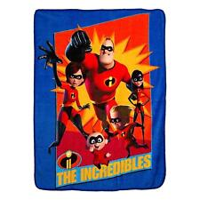 "Pixar The Incredibles 2 Family Heroes Micro Throw Blanket 46"" x 60''"