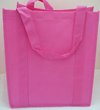 Large Size Reusable GROCERY BAG - PINK - Recyclable EcoFriendly Shopping Bag NEW