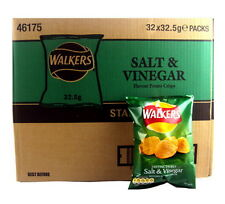 Box of 32 Walkers Salt and Vinegar Crisps (32.5g bags)