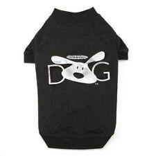 """Dog is Good""  Halo Dog Black Tee Rhinestone silver foil applique Size: X-SMALL"