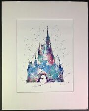 Cinderella Castle Wall Art Disney Watercolor Poster Home Decor UNFRAMED