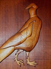 Wood Inlaid Picture 3 Dimensional Pheasant, by the Wood Man of Texas