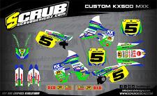 Scrub KAWASAKI graphique autocollants KIT KX500 500 autocollants 1989 - 2004 MX