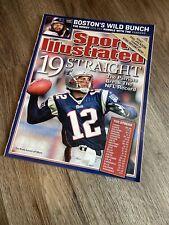 2004 Tom Brady New England Patriots Sports Illustrated No Label - MINT