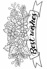"""Woodware Clear Magic stamp """"Best Wishes Banner"""" JGS494"""