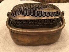 Antique Chinese Solid Brass Peking Hand Warmer