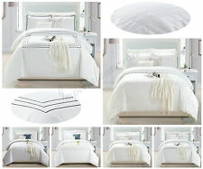 New Embroidered Duvet Cover Bedding Set With Pillowcases Super Soft Quilt Covers