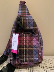 Vera Bradley Iconic Mini Sling Backpack Belt Bag Cozy Plaid NWT