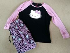 Plus 1X Juniors/Girls Hello Kitty 2 Piece Pajamas Night Shirt Pants Sanrio
