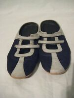 NIKE AIR Shoes Slides Clog Mules Women's 8 1/2 AA  Shoe Blue Gray