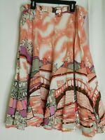 Kaktus Pink Landscape Neighborhood Portrait Theme Skirt Large Art to Wear