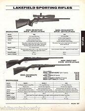 1995 LAKEFIELD 90B Biathlon Mark I Single Shot, 64B Semiauto Sporting RIFLE AD