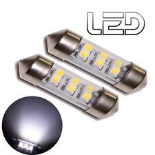 2 Ampoules Navette 6 LED Blanc C10W 41 mm 41mm Habitacle Coffre Eclairage sols