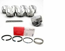 Chevy 7.4/454 SPEED PRO Hypereutectic 30cc Dome Pistons+CAST Rings Kit +30