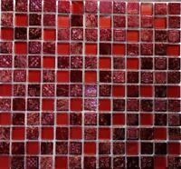 WEINROTE RESIN RETRO RUSTIKAL VINTAGE Mosaikfliese mir Glas 82-0906_b|1Matte