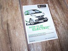 Carte postale officielle / Postcard SMART Fortwo Electric Drive  //