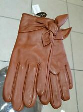 Ladies small Brown Leather Gloves BRAND NEW