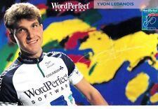 CYCLISME carte cycliste YVON LEDANOIS équipe WORDPERFECT