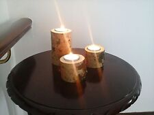 Handmade Wooden Candle & Tea Light Holder Sets