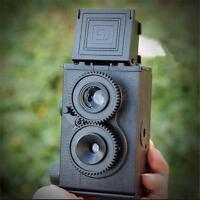DIY Twin Lens Reflex TLR 35mm Lomo Film Camera Kit Classic Play Hobby Photo 35mm