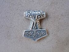 sterling silver norse viking rare old asatru thors hammer