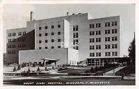 <A21> MINNESOTA Mn Real Photo RPPC Postcard '56 MINNEAPOLIS Mount Sanai Hospital