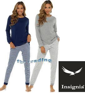 Ladies Pyjamas Set Nightwear Pjs Soft Loungewear Cotton LONG Sleeve WITH POCKETS