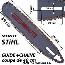 guide tronçonneuse OREGON Pro LITE coupe 40 cm + chaine 60 maillons 3/8  1.6