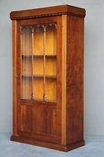 Antique Biedermeier Art Deco glazed door bookcase 3 adjustable shelves Original
