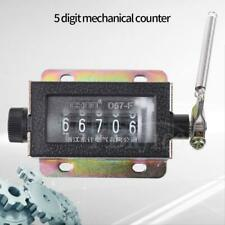 D67-F 5 Digit Mechanical Resettable Manual Pull Stroke Tally Counter 0-99999