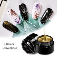MTSSII Spider UV Gel Polish Elastic Painting Line Soak Off Gel Nail UV LED 5ml