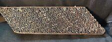 VINTAGE COPPER BATIK TJAP CHOP STAMP For Hand Block Printing, Intricate Pattern