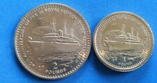Gibraltar 1994 Two Pounds and One Pound £2 & £1 - Anniversary of Royal Visit