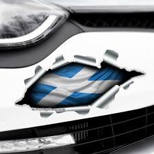 TORN RIPPED 3D EFFECT SCOTLAND FLAG CROSS Novelty Car,Bumper Vinyl Decal Sticker