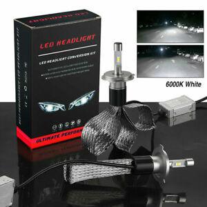 2X H4 9003 CSP LED Headlight Kit Hi Low Beam Bulbs 10000LM Fanless 6000K White
