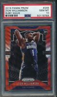 2019 Panini Prizm Ruby Wave #248 Zion Williamson RC PSA 10
