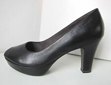 Tamaris Peep Toe Plateau Leder Pumps schwarz Gr. 39 Platform shoes black