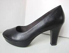 Tamaris Peep Toe Plateau Leder Pumps schwarz Gr. 39 Platform shoes black