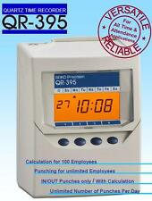 Calculating Time Recorder Clocking in Machine Seiko Qr375