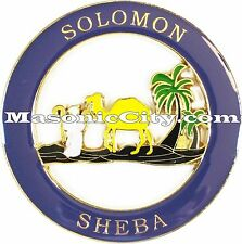 Z-92 Shriner Solomon Sheba Auto Emblem Shrine Temple Mason Masonic Car