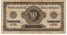 Pologne POLAND Billet 500000 ZLOTYCH MAREK 1923 P36 AIGLE RARE
