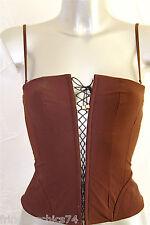 bustier marron à lacets luxe VANNINA VESPERINI taille 40 NEUF ÉTIQUETTE val 190€