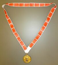 CHINA OLYMPIC MEDAL -Gold Olympic Style Medal with Chinese Flag Lanyard (MI3)