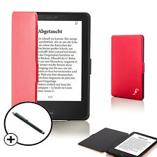 Forefront Cases Red Shell Smart Case Cover Tolino Vision 4 HD Stylus