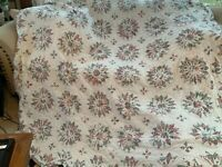 """Vintage Handmade Quilt Flowers Scallop Edges 74"""" by 80"""""""