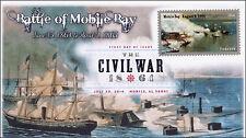 SC 4911,  2014 Battle of Mobile Bay , Civil War FDC Digital Color Postmark