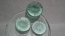 Semi-frosted Clear Glass Poker Chip Stacks Paperweight Table Decor Figurine Art