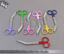 7 Pcs Lister Bandage Nurse Scissors 5.5'' Mix Color Handles
