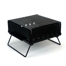 Evelyne Portable Compact 12x12 Charcoal Barbecue BBQ Grill + Bag Outdoor Camping